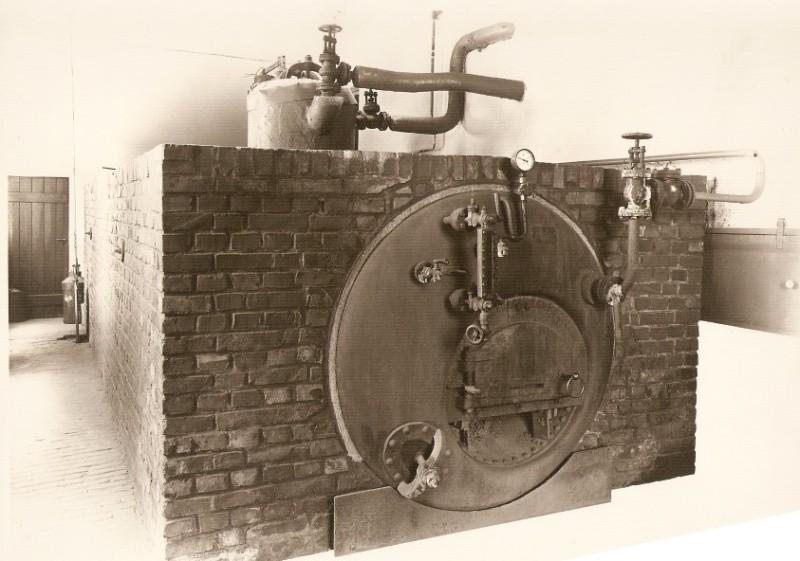 Heizkessel zur Dampferzeugung Kornbrennerei-Buechter um 1906