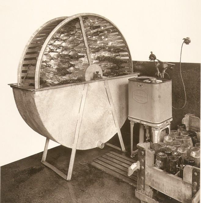 Kornbrennerei-Buechter-Flaschenspülmaschine um 1950