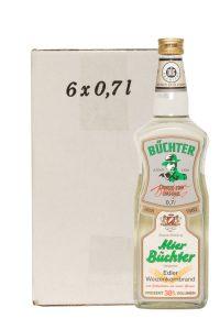 Kornbrennerei Büchter. Alter Büchter, Weizenkornbrand im Umkarton mit 6 Flaschen à 700 ml