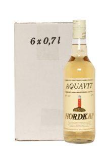 Kornbrennerei Büchter. Nordkap Aquavit im Umkarton mit 6 Flaschen à 700 ml