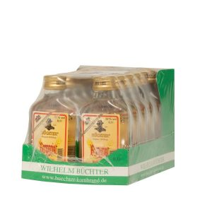 Kornbrennerei Büchter. Unser Berggeist im Umkarton mit 12 Flaschen à 100 ml
