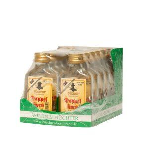 Kornbrennerei Büchter. Unser Doppelkorn 100 ml Weizenkornbrand im Umkarton.