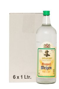 Kornbrennerei Büchter. Doppelweizenkorn im Umkarton mit 6 Flaschen à 1000 ml