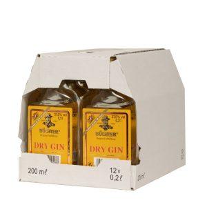 Kornbrennerei Büchter. Dry Gin im Umkarton mit 12 Flaschen à 200 ml