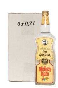 Kornbrennerei Büchter. Westfalen Krone, Weizenkorn im Umkarton mit 6 Flaschen à 700 ml