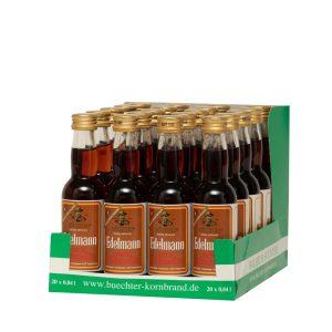 Kornbrennerei Büchter. Unser Edelmann Kräuterlikör im praktischem Verkaufstray mit 20 Flaschen à 40 ml