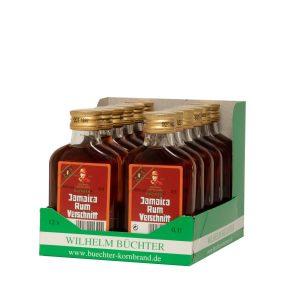 Kornbrennerei Büchter. Rum-Verschnitt, im praktischem Verkaufstray mit 12 Flaschen à 100 ml