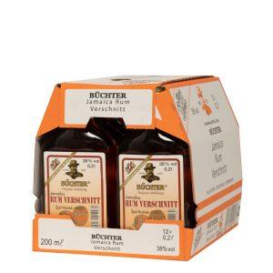 Kornbrennerei Büchter. Rum-Verschnitt, im Umkarton mit 12 Flaschen à 200 ml