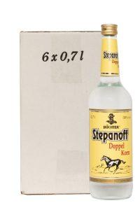Kornbrennerei Büchter. Stepanoff Doppelkorn im Umkarton mit 6 Flaschen à 700 ml
