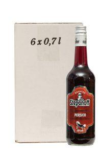 Kornbrennerei Büchter. Stepanoff Persico Likör im Umkarton mit 6 Flaschen à 700 ml