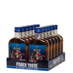 Kornbrennerei Büchter. Stepanoff Power Taste, PET-Flasche , im praktischen Verkaufstray mit 12 Flaschen à 200 ml
