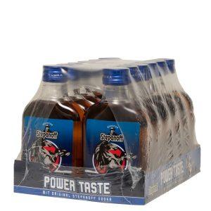 Kornbrennerei Büchter. Stepanoff Power Taste, PET-Flasche im Umkarton mit 12 Flaschen à 200 ml