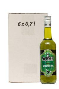 Kornbrennerei Büchter. Stepanoff Waldmeister Likör im Umkarton mit 6 Flaschen à 700 ml