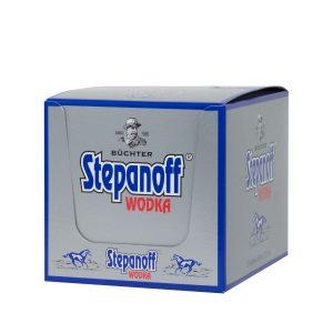 Kornbrennerei Büchter. Wodka Stepanoff im Umkarton mit 12 Flaschen à 100 ml