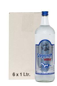 Kornbrennerei Büchter. Wodka Stepanoff im Umkarton mit 6 Flaschen à 1000 ml