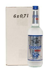 Kornbrennerei Büchter. Wodka Stepanoff im Umkarton mit 6 Flaschen à 700 ml