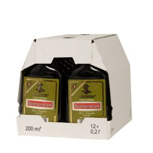 Kornbrennerei Büchter. Waidmannstrank im Umkarton mit 12 Flaschen à 200 ml