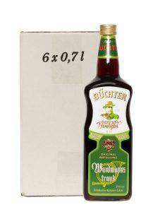 Kornbrennerei Büchter. Waidmannstrank im Umkarton mit 6 Flaschen à 700 ml